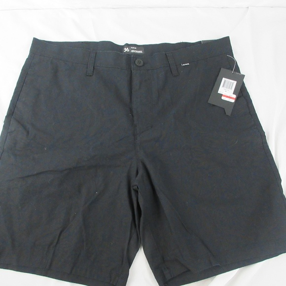 Hurley Other - Hurley Regular Fit Black Pattern Shorts W36 E30